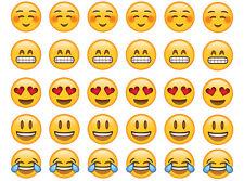 Emoji Cupcakes Theme Personalised Edible Image REAL Icing Cake Topper