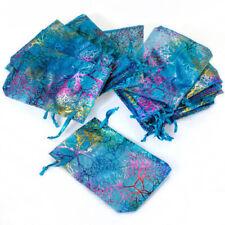 50pcs Organza Drawstring Pouch Small Mesh Bag Wedding Party Favor Candy Gift Bag