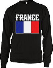 France Flag Colors Font French Soccer Heritage Born From Fra Fr Men's Thermal