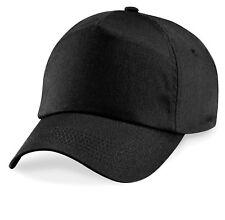 Classic Baseball Cap Cotton Sun Hat 5 Panel Adjustable