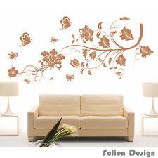 pf33 Wandtattoo Ranke Blumen Blumenranke Wallbild wandaufkleber Schmetterlinge