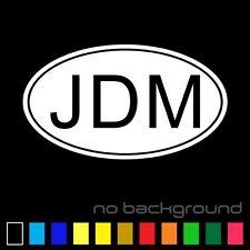 JDM OVAL Sticker Vinyl Decal Euro Drift Racing Car Japan Japanese Lowered Illest