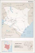 Poster, Many Sizes; Cia Map Of Kenya 1976