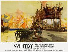 TU5 Vintage Whitby Yorkshire Port LNER Railway Travel Poster Print A3/A2