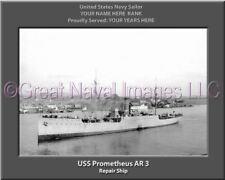 USS Prometheus AR 3 Personalized Canvas Ship Photo Print Navy Veteran Gift