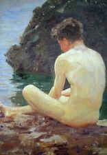 Henry Scott Tuke - July Sun (1913) Vintage Fine Art Print