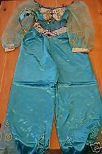 New Disney Store JASMINE Aladdin Costume & Crown M 8/10