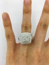 2.85Ct Baguette Round Cut Engagement Bridal Ring Set Diamond 14K White Gold Over