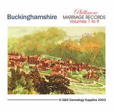 Buckinghamshire Parish Registers - Complete Phillimore Marriages Records