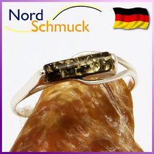 Bernstein Ring modern Bernsteinring 925er Silber kleine große Größen 48-64 K248