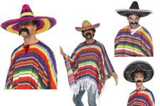 Poncho mexicain pour hommes femmes Déguisements ACCESSOIRE NEUF MEXIQUE ajout