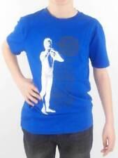 O'Neill Camiseta Top Camiseta castana Blau Blanco Cuello Redondo Estampado