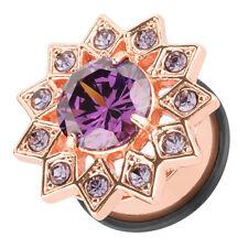 Flesh ORECCHIO Piercing tunnel plug acciaio inox stella con grande cristallo