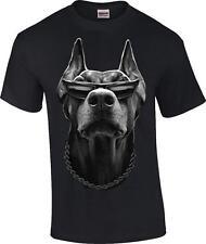 Funny Doberman Pinscher Dog Cool Shades Gangsta Chain Attitude T-Shirt Tee