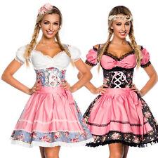 Dirndl Set Tracht Kleid Trachtenkleid Dirndlkleid Oktoberfest Denim Wiesn 34-46
