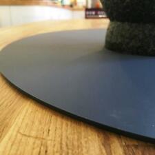 Protectores de superficie oval de grafito, fácil limpie, para su uso en cualquier escritorio o mesa