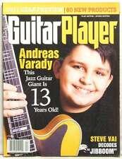 GUITAR PLAYER MAGAZINE ANDREAS VARADY 13 YEAR OLD JAZZ GIANT STEVE VAI VERY RARE