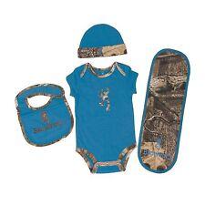 BROWNING BUCKMARK & BRILLIANT BLUE MOSSY OAK INFINITY CAMO BABY INFANT SET -4 PC
