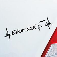 Auto Aufkleber Eiskunstlauf Herzschlag Wintersport Eis Sport Sticker Liebe