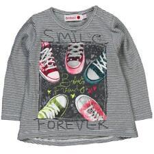 de manga larga Camiseta Chica Gris a rayas von boboli talla 74 80 86 92 98 104