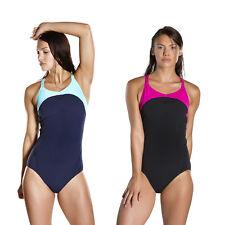 Badeanzug Speedo Schwimmanzug Damen Frauen Speedo Fit Power Form mit Bustier