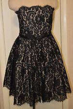 fb93df81ea6 Women s Neiman Marcus Robert Rodriguez Black Lace Party Cocktail Dress Sz  ...
