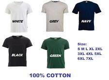 Mens Plain Plus Size T-Shirts ( 5 colors, Sz from S-7XL)