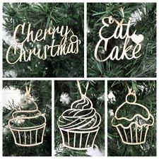 Cupcake Baubles-Noël Drôle Gâteau alimentaire Suspendu Tree Décoration Cerise de Noël