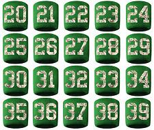 #20-39 Number Sweatband Wristband Lacrosse Softball Volleyball Green Money Print