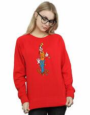 Disney Women's Goofy Christmas Lights Sweatshirt