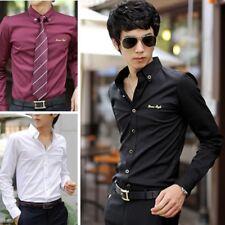 New Mens Fashion Luxury Casual Style Slim Fit Dress Long Sleeves Shirts YC6058