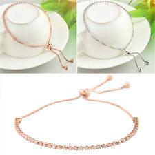 Charm Adjustable Women Rhinestone Cubic Zirconia Bracelet Bangles Jewelry Gift