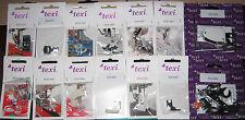 1   Nähfüße für Haushaltnähmaschinen von TEXI 14 verschiedene Füße zu Auswahl