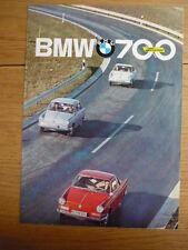 +++ NOW REDUCED +++ BMW 700 LUXUS Brochure 1962 jm