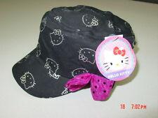 Nwt Girls Juniors Teens Hello Kitty Cadet Style Black Silver Purple Glitter Bow