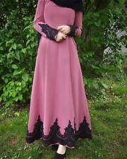 Dubai Kaftan Women Muslim Long Sleeve Dress Islam Abaya Jilbab Ramadan Gown Gown
