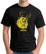 Black T-Shirt BEER Bear Deer It's Always Sunny In Philadelphia drinking alcohol