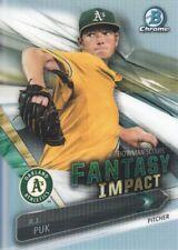 2016 Bowman Chrome Draft Scouts Fantasy Impact #AP A.J. Puk Oakland Athletics