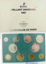 COFFRET FLEUR DE COIN  ,  1987  ,  BRILLANT UNIVERSEL
