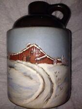Wihoa Sands Art Pottery Winter Scene Jug Signed J Ault Kin To Wisecarver