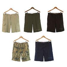 NWT IZOD Men's Flat Front Cargo Shorts Pants 100% Cotton 5 Colors Sz 32-42 $60