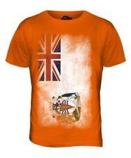 Británico Antartic Territory Bandera Desteñida Hombre Camiseta Top