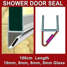 SHOWER SCREEN DOOR MAGNETIC SEAL WATER STRIP 10MM 8MM 6MM 5MM GLASS MG-SHAPE