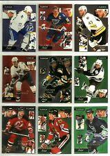 1994-95 FLEER SLAPSHOT ARTISTS INSERT CARDS - PICK YOUR SINGLES - FINISH SET
