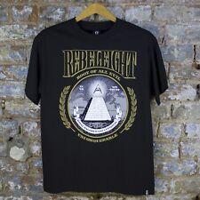 Rebel8 raíz de todo mal Tee básica con el logotipo Casual Camiseta Nueva-Negro-Talla: S/l