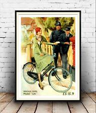Cartel de publicidad de ciclo de Hercules Super Vintage Reproducción.
