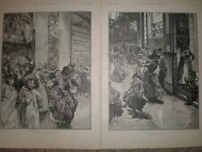 Dancing ALL'ORCHESTRA E PER L'ORGANO F H Townsend stampe di classe sociale 1891