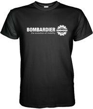 BOMBARDIER LOGO T-SHIRT Aerospace Aviation S M L XL 2XL 3XL