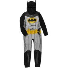 DC Comics Batman Hooded Sleeper Blanket Union Suit Pajama Boy 4/5 6/7 10/12