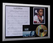 SADE Smooth Operator LTD CD MUSIC FRAMED DISPLAY+EXPRESS GLOBAL SHIPPING